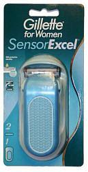 Жиллет сенсор иксель станок для женщин +2 кассеты
