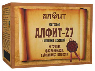 Алфит 27 профилактика атеросклероза сбор лекарственный 2г 60 шт.