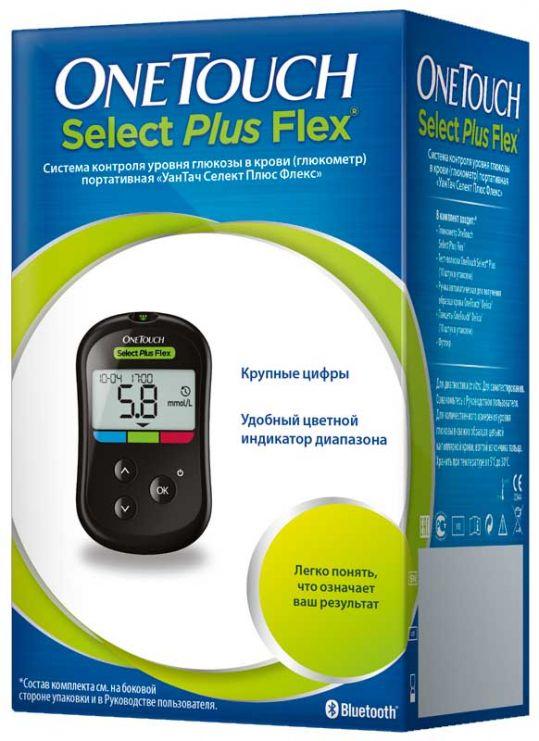 Ван тач селект плюс флекс глюкометр + тест-полоски 50 шт., фото №1