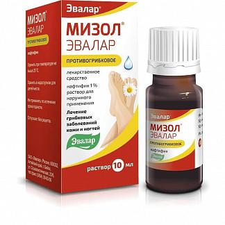 Мизол эвалар 1% 10мл раствор для наружного применения