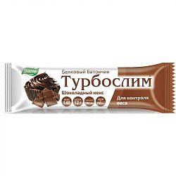 Турбослим батончик белковый шоколадный кекс 50г