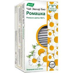 Эвалар био ромашка чай 1,5г 20 шт. фильтр-пакет