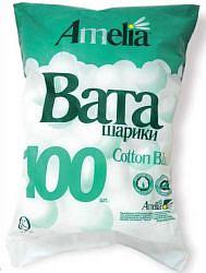 Амелия ватные шарики 100 шт.
