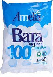 Амелия ватные шарики цветные 100 шт.
