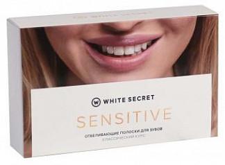 Вайт сикрет сенситив полоски для зубов отбеливающие 28 шт. (14 саше)