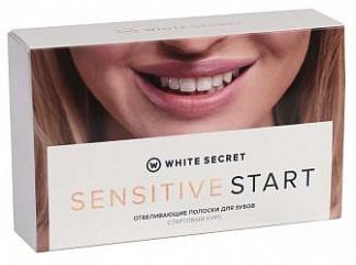 Вайт сикрет сенситив старт полоски для зубов отбеливающие 14 шт. (7 саше)
