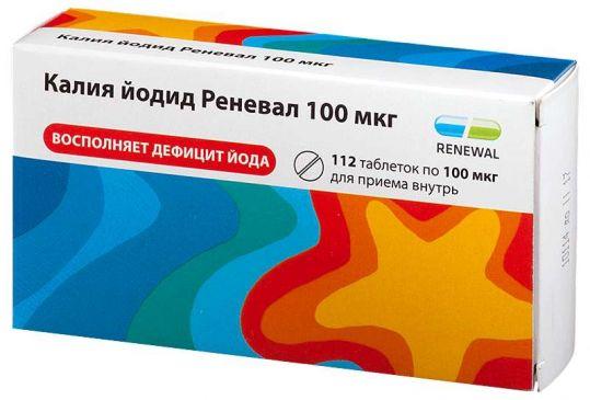 Калия йодид реневал 100мкг 112 шт. таблетки, фото №1