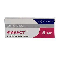 Финаст 5мг 30 шт. таблетки покрытые пленочной оболочкой