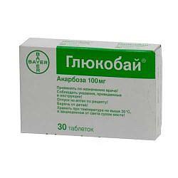 Глюкобай 100мг 30 шт. таблетки