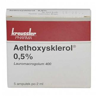 Этоксисклерол 0,5% 2мл 5 шт. раствор для внутривенного введения