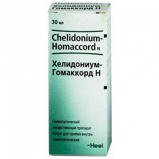 Хелидониум-гомаккорд н 30мл капли biologische heilmittel heel gmbh