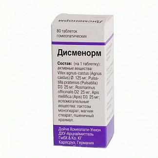 Дисменорм 80 шт. таблетки для рассасывания гомеопатические