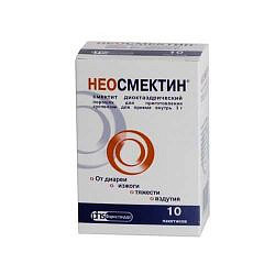 Неосмектин 3г (3,76г) 10 шт. порошок для приготовления суспензии для приема внутрь ванильный