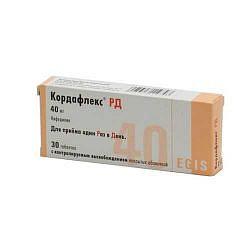 Кордафлекс рд 40мг 30 шт. таблетки с модифицированным высвобождением покрытые пленочной оболочкой