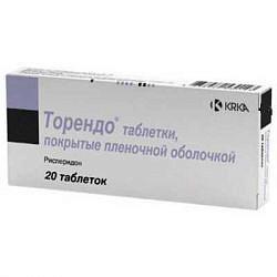 Торендо 2мг 20 шт. таблетки покрытые пленочной оболочкой
