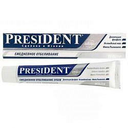 Президент уайт зубная паста ежедневное отбеливание 30мл