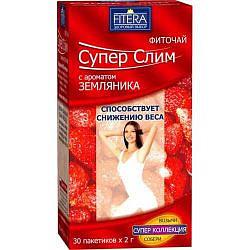 Супер слим чай земляника 30 шт. фильтр-пакет