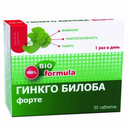 Гинкго билоба форте таблетки 30 шт., фото №1