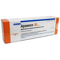 Аранесп 30мкг/0,3мл 1 шт. раствор для инъекций