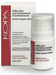 Кора крем-гель для проблемной и жирной кожи с матирующим эффектом 50мл