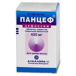Панцеф 400мг 6 шт. таблетки покрытые пленочной оболочкой