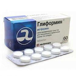Глиформин 850мг 60 шт. таблетки покрытые пленочной оболочкой