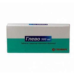 Глево 500мг 10 шт. таблетки покрытые пленочной оболочкой
