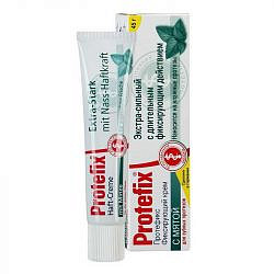 Протефикс крем фиксирующий для зубных протезов экстра сильный/мята 40мл/47г