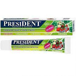 Президент джуниор зубная паста-гель для детей 6+ со вкусом земляники 50мл