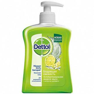 Деттол мыло жидкое для рук бодрящая свежесть грейпфрут 250мл