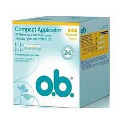 О.б. компакт аппликатор тампоны нормал 16 шт.