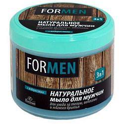 Флоресан мыло 3 в 1 для мужчин натуральное для ухода за телом/волосами/мягкого бриться (ф40) 450мл