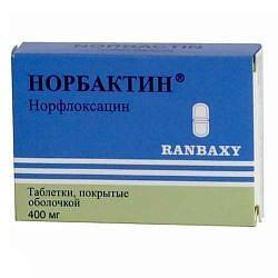 Норбактин 400мг 20 шт. таблетки покрытые пленочной оболочкой