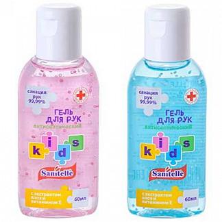 Санитель гель детский с витамином е и алоэ 60мл