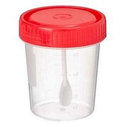 Контейнер стерильный для биоматериалов с ложкой 60мл