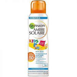 Гарнье амбр солер защита для детей сухой спрей анти-песок спф50 200мл лореаль