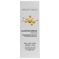 Пеллесана биохиалурон голд гель для кожи вокруг глаз гиалуроновая кислота+активный коллаген 15мл