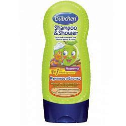 Бюбхен шампунь детский для волос и тела румяное яблочко 230мл