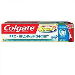 Колгейт тотал про зубная паста видимый эффект 75мл