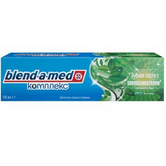 Бленд-а-мед зубная паста с ополаскивателем комплекс трав мята чабрец 100мл, фото №1