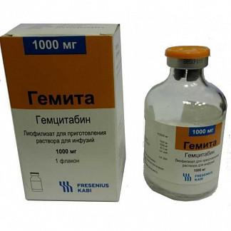 Гемита 1000мг 1 шт. лиофилизат для приготовления раствора для инфузий