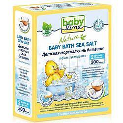Бэбилайн соль для ванн детская натуральная 500г