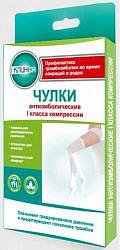 Клинса чулки антиэмболические на резинке с открытым носком 1 класс компрессии размер 3 l белый