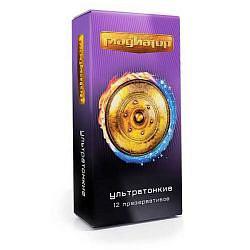 Гладиатор презервативы ультратонкие гладкие 12 шт.