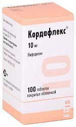 Кордафлекс 10мг 100 шт. таблетки пролонгированного действия покрытые пленочной оболочкой