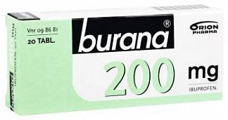 Бурана 200мг 20 шт. таблетки