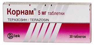 Корнам 5мг 30 шт. таблетки