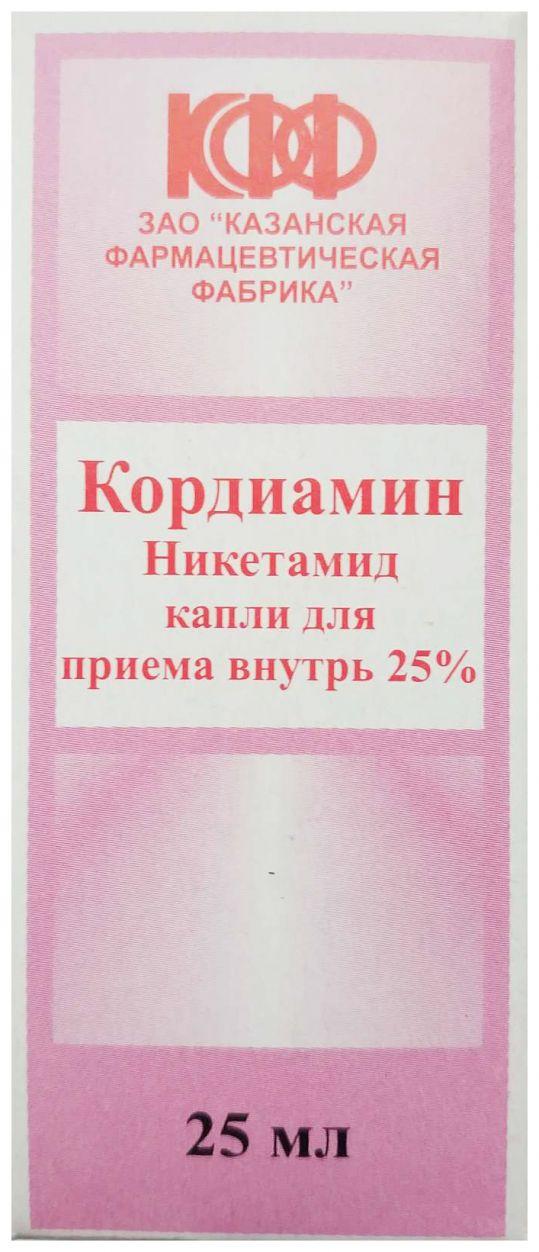 Кордиамин 25% 25мл капли для приема внутрь, фото №1