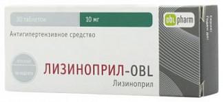 Лизиноприл-obl 10мг 30 шт. таблетки