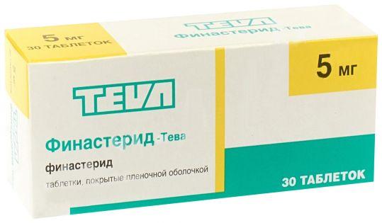 Финастерид-тева 5мг 30 шт. таблетки покрытые пленочной оболочкой, фото №1